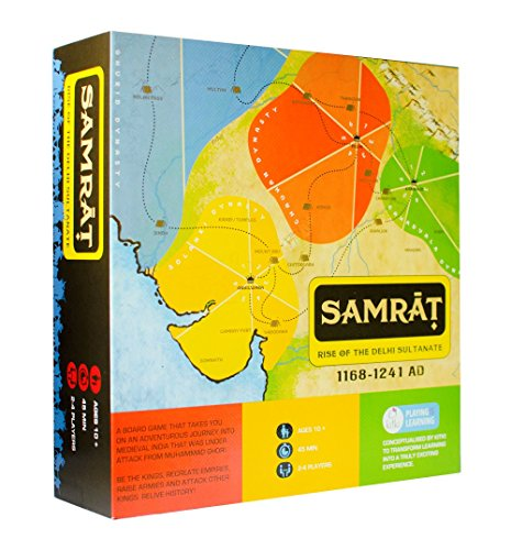 Kitki SAMRAT Strategy Board Game For Family Kids Adults Based On Real History. Best For 8 10 12 14 Year Boys & Girls. - Family Strategy Board Game