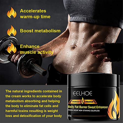 YUGHGH Hot Cream, Belly Fat Burning for Women and Men Cellulite Removal Sweat Cream Weight Loss Slimming Workout Enhancer for Abdomen Leg Body Waist Shaping