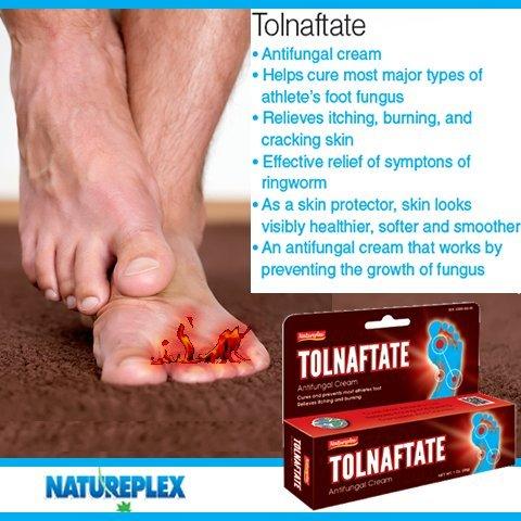 Natureplex Tolnaftate Antifungal Cream foot Tinactin cures athletes foot Relieves Itching burning 1.0 oz