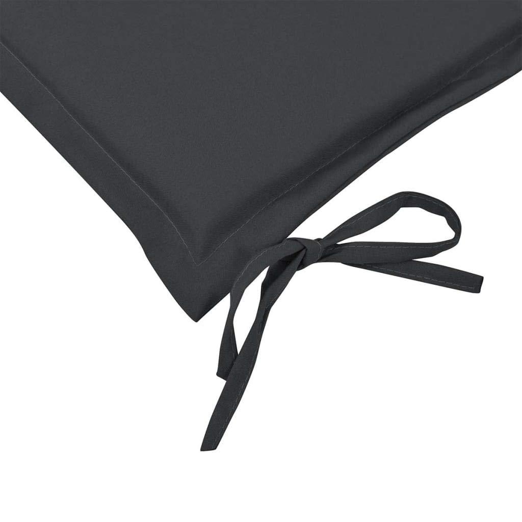 vidaXL Cuscino per Panca da Giardino Antracite 180x50x3 cm Panchina da Esterno