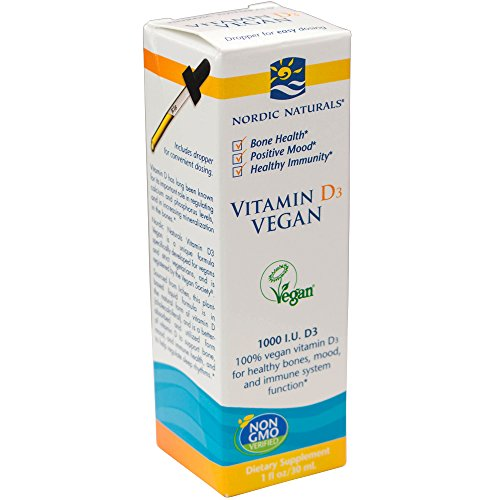 Nordic Naturals - Vitamin D3 Vegan, Healthy Bones, Mood, and Immune System Function, 1 Ounce (FFP)