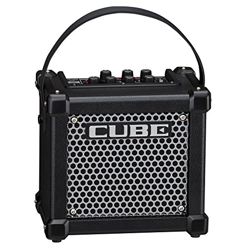 (Roland Micro Cube Battery Powered Guitar Amplifier | M-CUBE-GX with 8 DSP Effects, 8 COSM Amplifier Models, Chromatic Tuner, iOS i-Cube Link (Black))