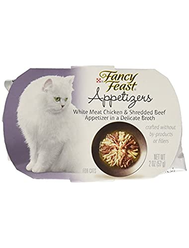 Purina Fancy Feast Appetizers for Cats White Meat Chicken and Shredded Beef, 2 oz