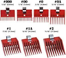 7pcs Speed O Guide Universal Clipper Comb Attachments 7 Diff Size Set (No.  000, No. 00u2026