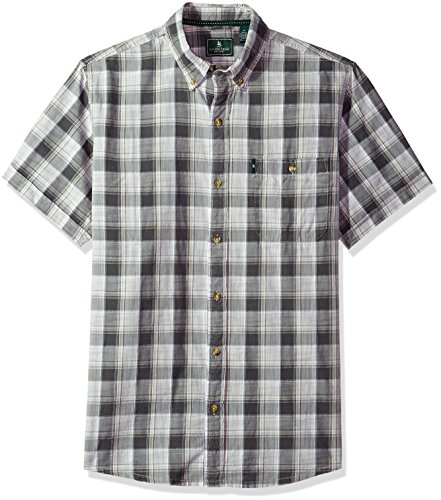 G.H. Bass & Co.. Men's Short Sleeve Madawaska Plaid Trail Shirt