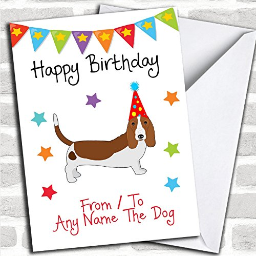 Pet Products Hound (To From Pet Dog Basset Hound Personalized Birthday Card)