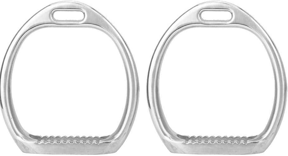 Silla de Montar para Caballos, 1 par de Aluminio Estribos Ligeros para niños Estribos para niños de Seguridad de fundición a presión de Aluminio Pulido a Mano