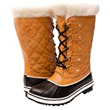 GW Women's 1560-4 Snow Boots (9, Wheat/Black)