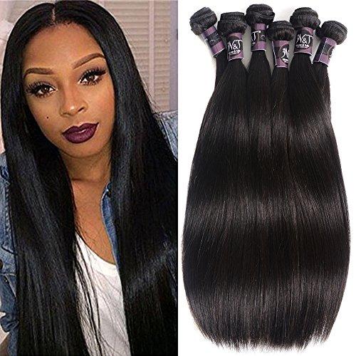 6 Bundles Extensions Hair Brazilian Straight Human Hair Weave Bundles Virgin Hair 50g/pcs