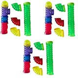 (3 Packages) CritterTrail Fun-nels Assorted Tubes