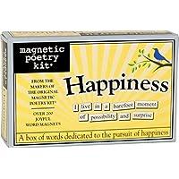 Poesía magnética - Kit de felicidad - Palabras para refrigerador - Escribir poemas y letras en el refrigerador - Hecho en los Estados Unidos