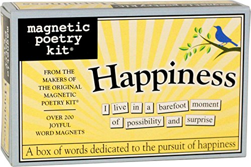 (Magnetic Poetry - Happiness Kit - Words for Refrigerator - Write Poems and Letters on The Fridge - Made in The USA)