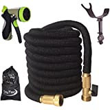 Newest 75 Foot Expandable Garden Hose, Strongest Expanding Hose with Triple Layer Latex Core, 48 Ply Fabric, 8...