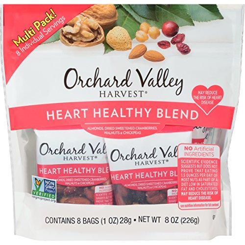 ORCHARD VALLEY HARVEST Heart Healthy Blend Multi Pack, Non-GMO, No Artificial Ingredients, 8 (Health Nut)