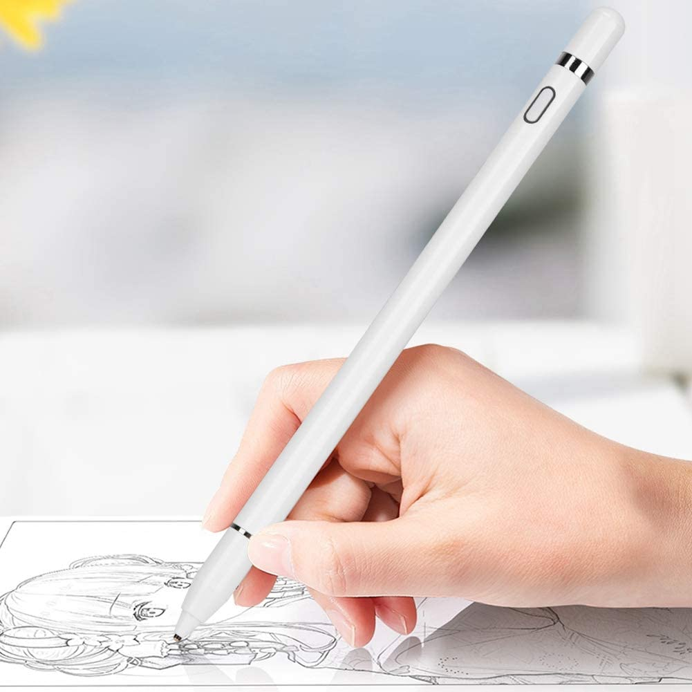 Wendry capacitive Stylus Pen,White Active Capacitive Pen Fine Point Touchscreen Stylus Universal for Mobile Phone//Tablet Basics Capacitive Stylus Pen for Touchscreen Devices