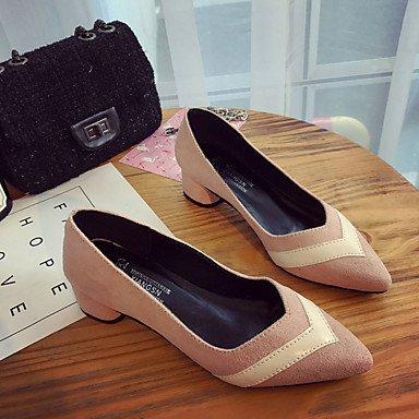Rose Chaussures 4 5 5 Bas Confort Polyuréthane 2 cm LvYuan à Talons à black Noir Décontracté Confort Marche Talon Eté Femme Jaune ggx HwqpwZE