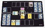 GMC Deluxe 2 Player Compatible Black White Pokemon Stadium Mat Board Playmat