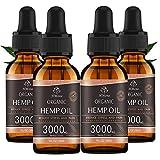 (4 Pack) Organic Hemp Oil 3000mg - for Anxiety