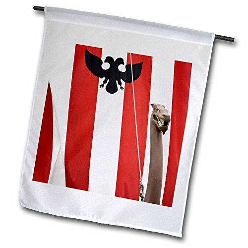 3dRose fl_87372_1 Alaska, Petersburg Model Norwegian Viking Ship US02 BJA0205 Jaynes Gallery Garden Flag, 12 by 18-Inch