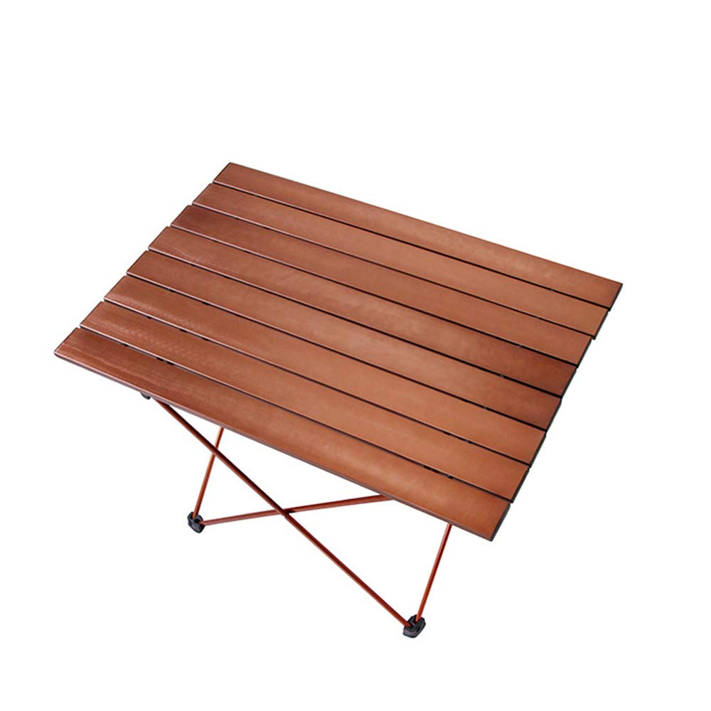 Portable Camping Table, Aluminum Table Topanti-Corrosion Rust Prevention Non-Slip Folding Table Picnic Camp Beach Easy Clean,2 by Cxmm (Image #1)