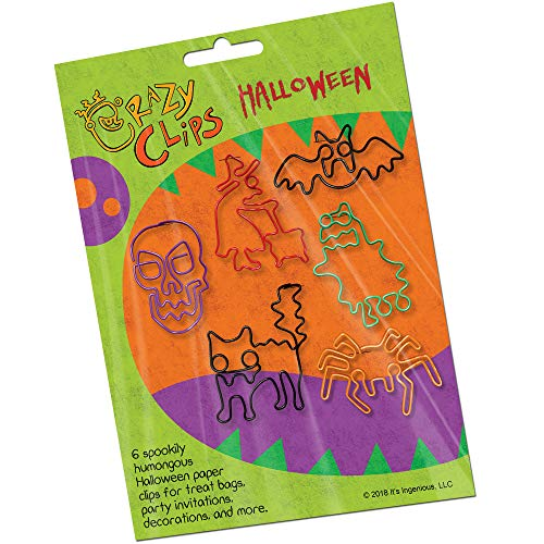 Halloween Paper Clips for Classroom, Home, Office - Fun School Supplies. Super Cute Office Supplies. 6 Jumbo Paper Clips per Pack: Package of 1 for $<!--$7.59-->
