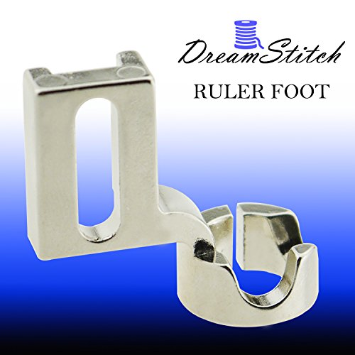 Stitch Ruler (DreamStitch Low Medium Shank Ruler Free Motion Darning Patchwork Presser Foot 1/4