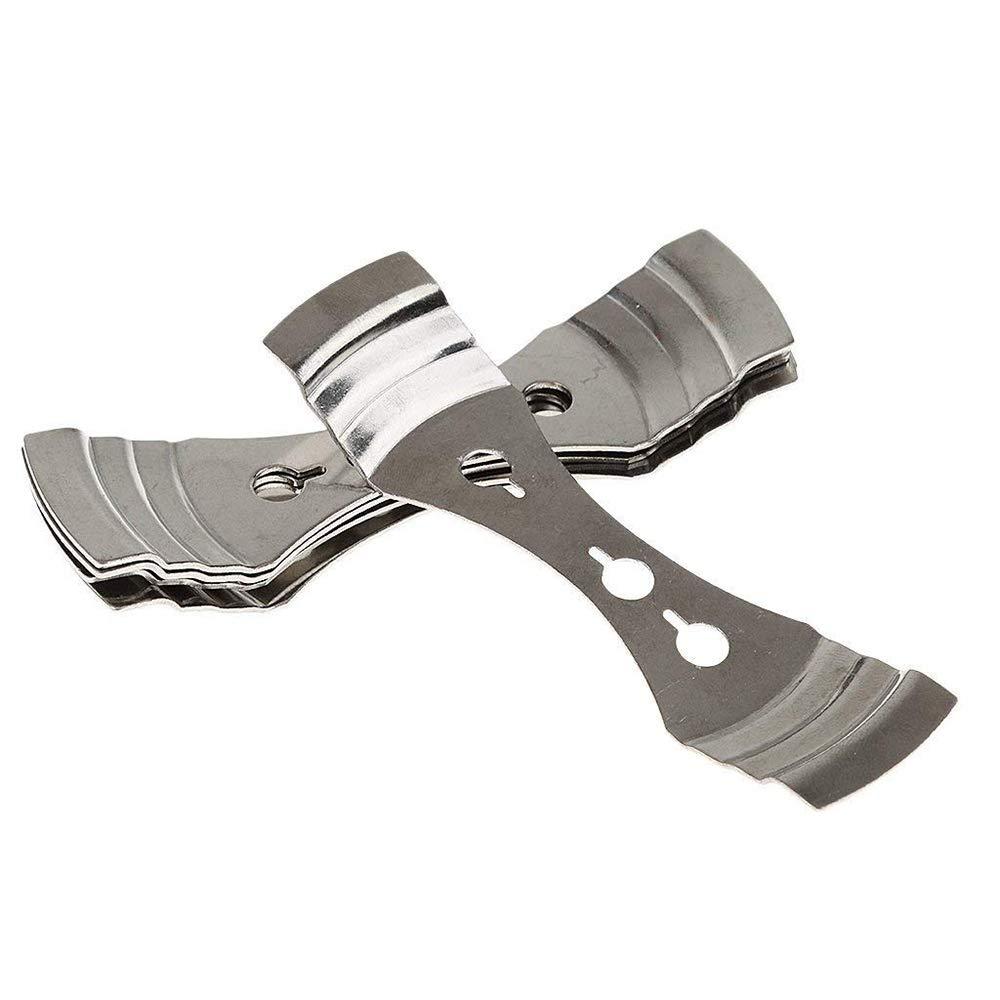 XSM Clip m/èche en Acier Inoxydable Bricolage 3 Trous Bougie Titulaire de la Bougie Faisant des Outils pour Faire des Bougies Utiliser 5 pcs