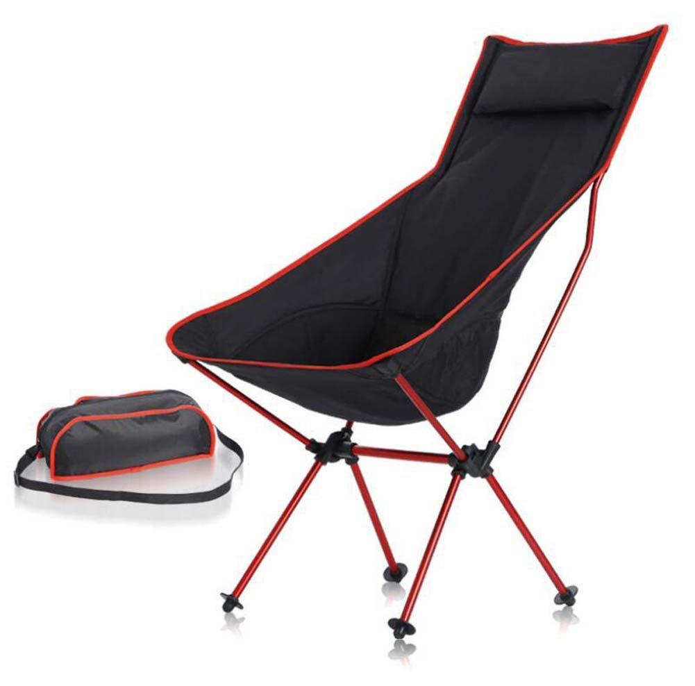 Klappstuhl im Freien, multifunktionaler tragbarer Kissen-Strand-Stuhl, Sun-Ruhesessel, beweglicher zusammenklappbarer kampierender Schemel, Ultraleicht faltende stützende Stühle mit Tragetasche, Sport-Partei draußen Strand-Mond-Stühle