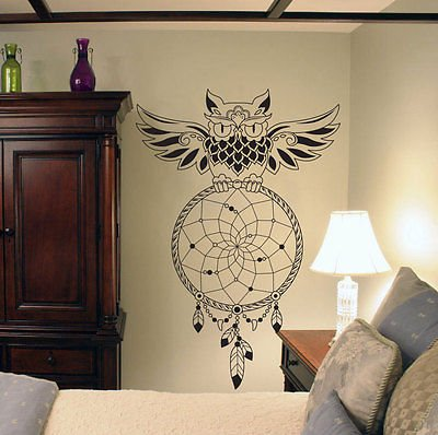 OWL Dreamcatcher Wall Art  Dream Catcher Wall Decal Mural