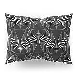 Society6 Art Deco . Black And White Pattern .'' Waterfall ''. Pillow Sham Standard (20'' x 26'') Set of 2