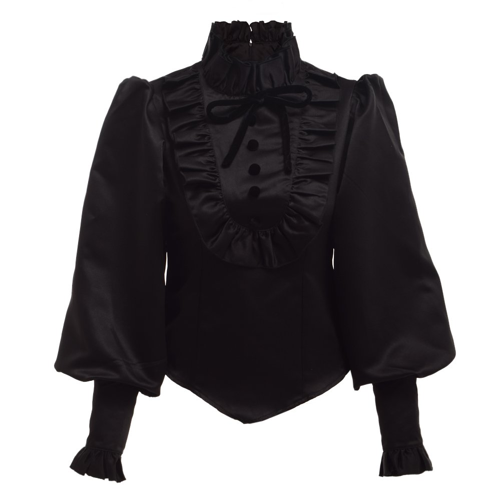 Steampunk Tops | Blouses, Shirts BLESSUME Vintage Lolita Women Blouse Medieval Victorian Top $33.99 AT vintagedancer.com