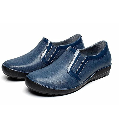 pattini coppia casual stivali YYNANXUE nero impermeabile Low pioggia stivali stivali da Low gomma di uomo blue antiscivolo stivali blu acqua grigio pq65qnwZ