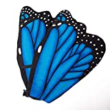 Wildlife Tree Plush Blue Morpho Butterfly Wings for Blue Butterfly Costume, Kids Cosplay and Pretend Play