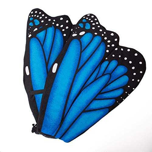 Wildlife Tree Plush Blue Morpho Butterfly Wings for Blue Butterfly Costume, Kids Cosplay and Pretend Play]()