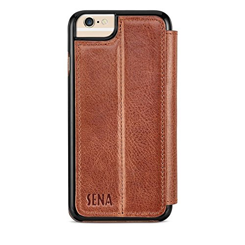 Sena Leather Iphone Cases - Sena Cases Genuine Leather WalletBook Iphone 7, Iphone 6/6S (Heritage Cognac)