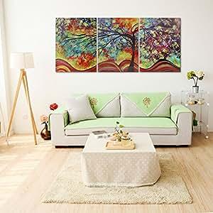Raybre art 3pcs impresi n sobre lienzo cuadro paisajes - Amazon decoracion pared ...