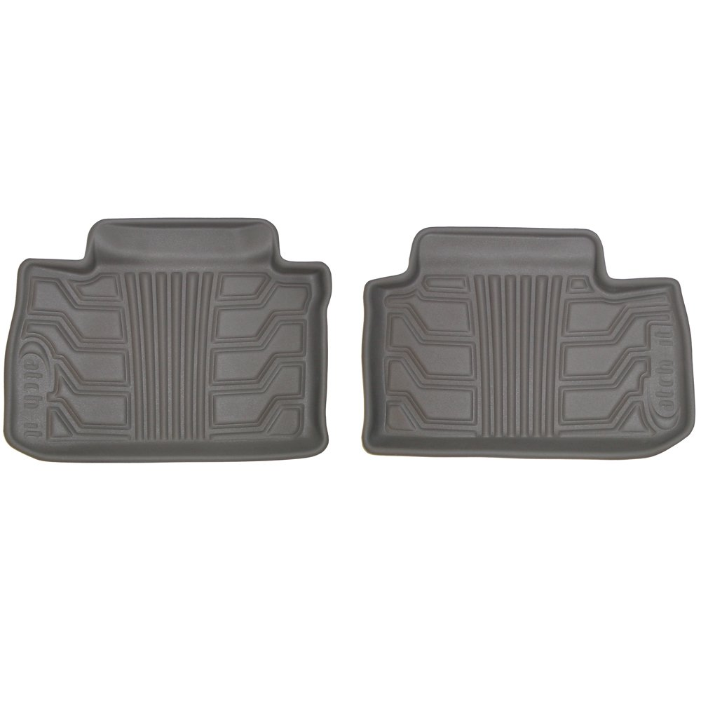 Set of 2 Lund 383078-G Catch-It Vinyl Grey Rear Seat Floor Mat