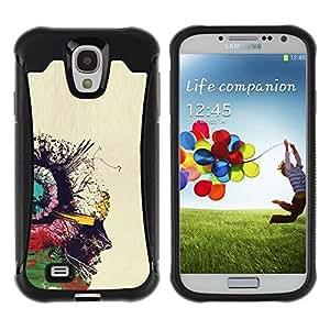"""Pulsar iFace Series Tpu silicona Carcasa Funda Case para Samsung Galaxy S4 IV I9500 , Retrato Aceite Perfil colorido Pintura Arte"""""""