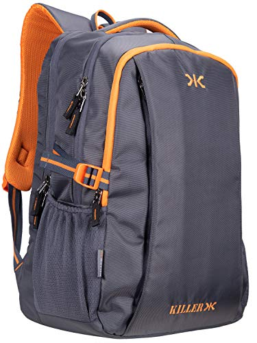 Killer Grey Polyester Backpack – Checkers 29 LTR Office Laptop Backpack