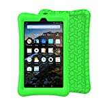 BFTOP Fire 7 2017 Kid Case - Light Weight Shock Proof Kid-Proof Cover Kids Case for All Fire 7 Tablet (7th Generation, 2017 Release), Green
