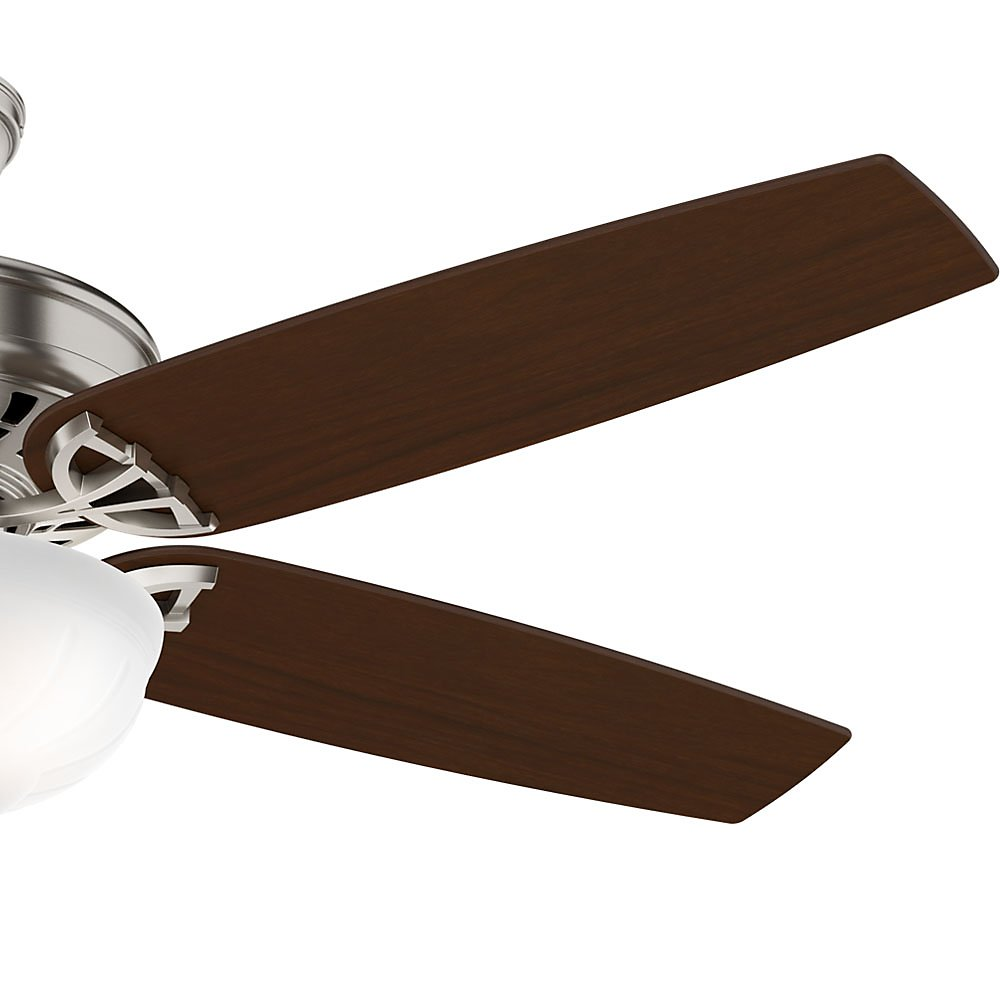 Casablanca 54023 Concentra Gallery 54-Inch 5-Blade Single Light Ceiling Fan, Brushed Nickel with Walnut/Burnt Walnut Blades and Cased White Glass Bowl Light by Casablanca (Image #7)
