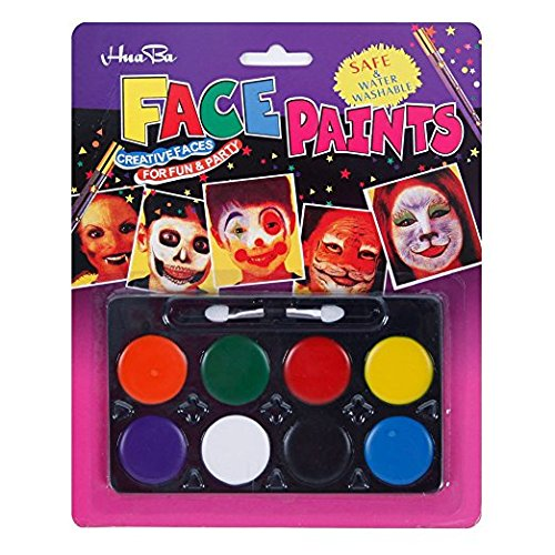 [Non-toxic Water-Based Face Painting Kits for Kids Party Face Paint - 8 Colors] (Easy Movie Fancy Dress Costumes)