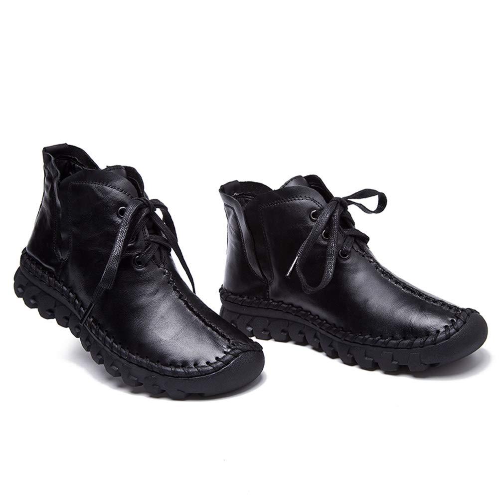 33c4342656a99 Amazon.com | JOYBI Women's Winter PU Leather Ankle Booties Lace Up ...