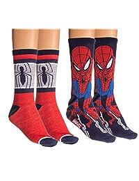 Marvel Spider-Man Unisex Casual Crew Socks - 2 Pack (Spider-Man)