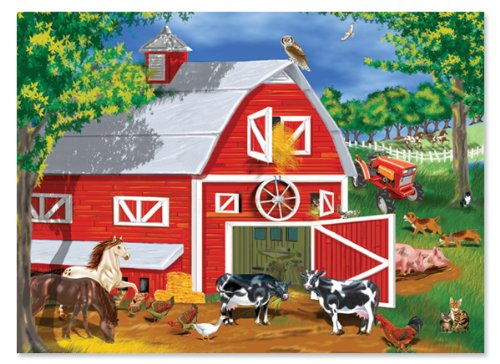 Melissa & Doug Barnyard Jigsaw Puzzle, ()