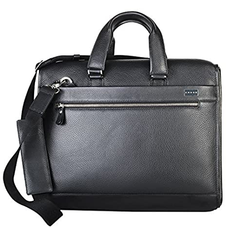 Cross Men's Genuine Leather Briefcase with Free Cross Agenda