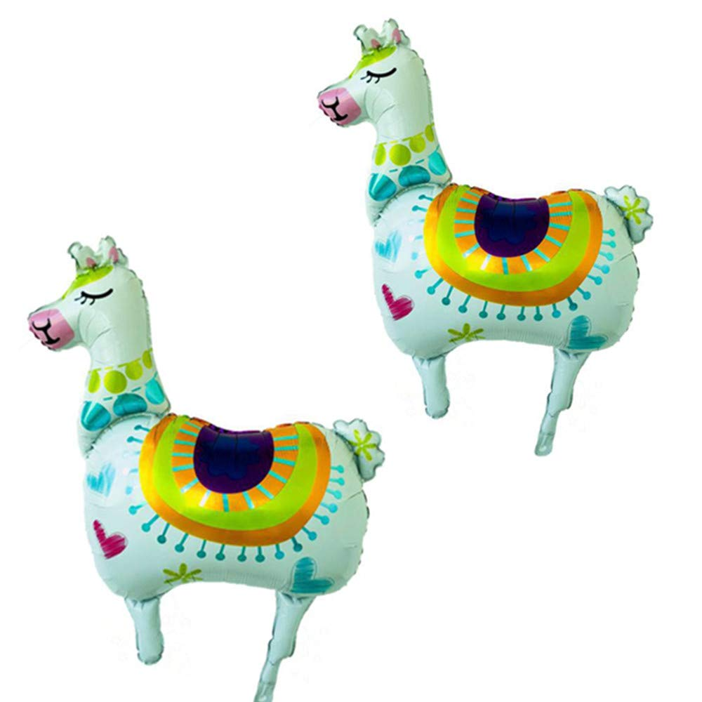 Rose&Wood Pack of 2 36'' Large Llama Balloons for Llama Party, Llama Decor, Llama Party Balloon, Kids Party Balloons,Birthday Balloons by Rose&Wood (Image #1)