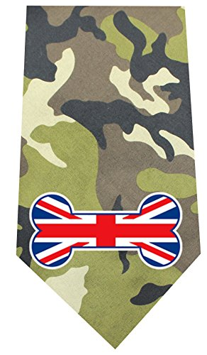 - Mirage Pet Products 511-29 GRC UK Bone Flag Screen Green Camo Print Bandana
