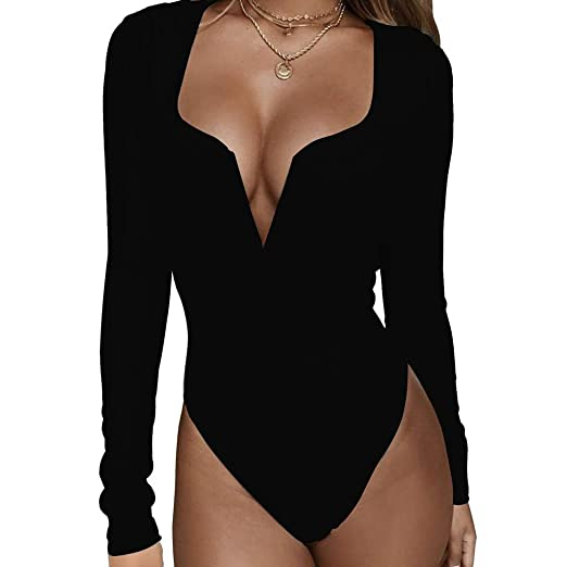 60f08588cf2c8 Amazon.com  Women s Sexy Slim Jumpsuit Bodysuits