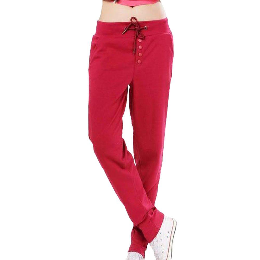 Womens Legging Elastic Waist Sports Workout Loose Running Yoga Pants Trousers Bling Stars